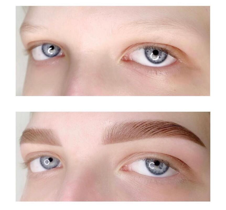 eyebrows shaping dyeing and lamination