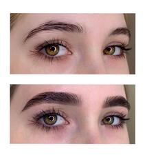 Brows dye and shape
